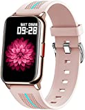 Smart Watch for Women, 2021 Smartwatch for Android iOS Phones Fitness Tracker Heart Rate Blood Pressure Blood Oxygen Sleep Monitor Fitness Watch with Full Touch Screen Compatible iPhone Samsung