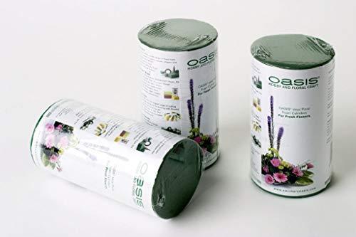3 Cylindre De Mousse Florale Pour Composition Florale Présentation Bouquet Vase