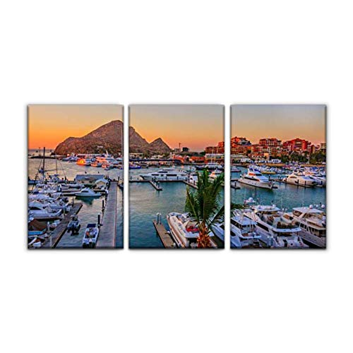 Modern Canvas Painting cabo san lucas marina baja california stock pictures royalty free Wall Art Artwork Decor Printed Oil Painting Landscape Home Office Bedroom Framed Decor (16'x24'x3pcs)