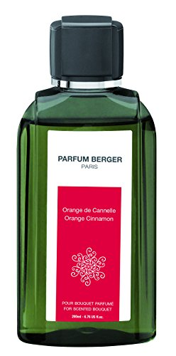 Parfum Berger Nachfüllpackung für Bouquet Duft Orange-Zimt transparent 200 ml, durchsichtig, 6032 RECHARGE POUR BOUQUET PARFUM ORANGE DE CANNELLE TRANSPARENT 200 ML