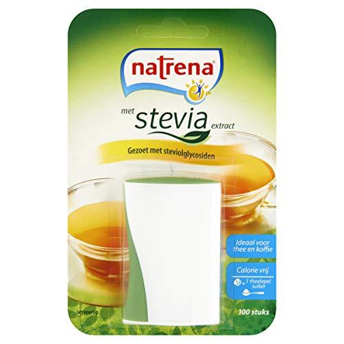 Natrena Zoetstof Dispenser met Stevia, Zakdispenser, 12 x 100 Zoetjes