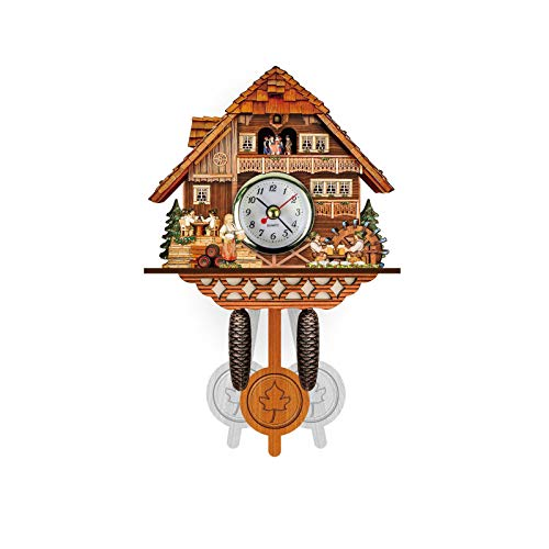 MEYLEE Elegante Reloj De Cuco Arte De La Pared Hogar Sala De Estar Decoración De La Cocina Restaurante Café Hotel Decoración De La Oficina,011