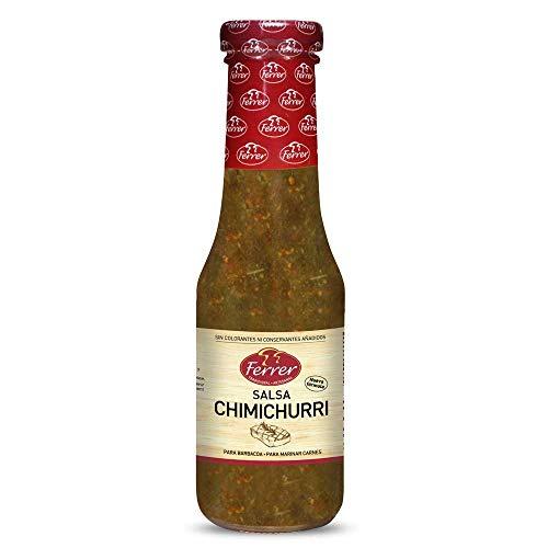 Ferrer- Salsa Chimichurri - Salsa Argentina - Especial para Marinar o Acompañar Carnes a la Parrilla - 320 Gramos