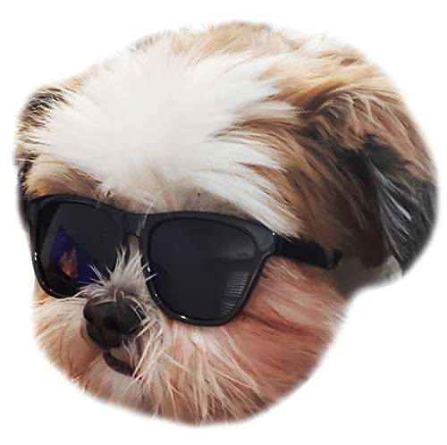 Style Vault G014 Dog Pet 80s Sunglasses Goggles for Small Dogs up to 15lbs (Black)