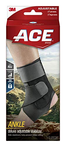 ACE - 229083 Deluxe Ankle Stabilizer, Support to sprained or strained ankle, Satisfaction Guarantee, One Size Fits Most
