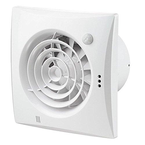 Innovativer geräuscharme und energiesparende Lüfter Ventilator ORIGINAL Vents 100 QUIET TIMER PIR Nachlauf Bewegungssensor Bewegungsmelder, sehr leise, 100 mm, energiesparend , Kugellager, Rückschlagfolie (Ventil)