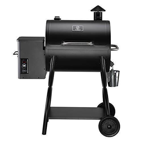 Z GRILLS 550A 2021 Upgrade Wood Pellet Grill 8-in-1 BBQ Smoker with Digital Controller, 590 Sq In, Black