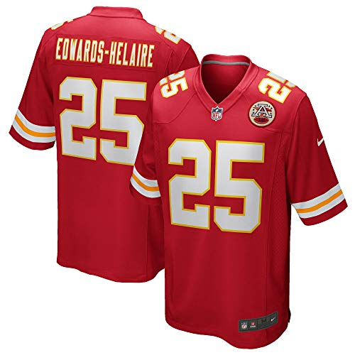 Nike Clyde Edwards-Helaire Kansas City Chiefs NFL Boys Youth 8-20 Red Home On-Field Game Day Jersey (Youth Small 8)