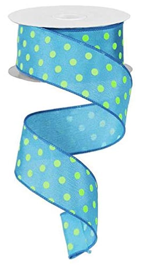Polka Dot Wired Edge Ribbon (1.5