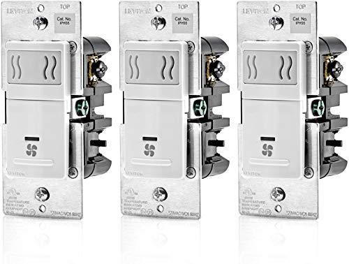 Leviton IPHS5-1LW, 3A, Single Pole, White - 3 Pack