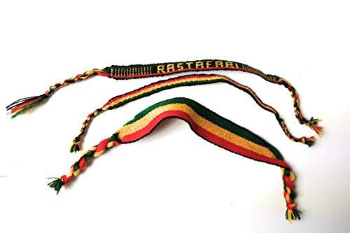 Wigwam Rastafari - Juego de 3 Pulseras de Tela Tejida
