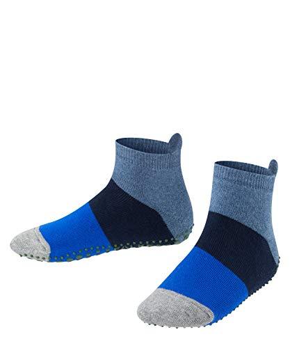 FALKE Unisex Kinder Socken, Colour Block Catspads K CP-12022, Blau (Denim 6666), 31-34
