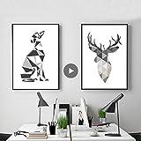 Minimalista abstracto perro cartel italiano galgo pared arte impresión lienzo...