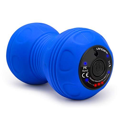 Bola de Masaje Doble Vibrante,LANDWIND Pelota Masaje Terapia Física,Relajación Muscular para...