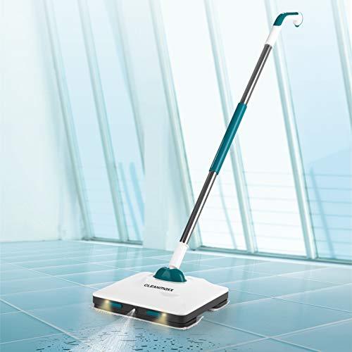CLEANmaxx Bodenwischer mit Vibrationsfunktion | Akku-Vibrationsmopp, inkl. LED Beleuchtung | Akkulaufzeit bis. 50min [Hochwertiger Kunststoff] (Petrol)