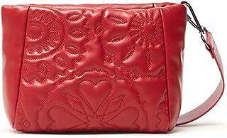 Desigual Womens BOLS Big Amber Across Body Bag, Red, One Size