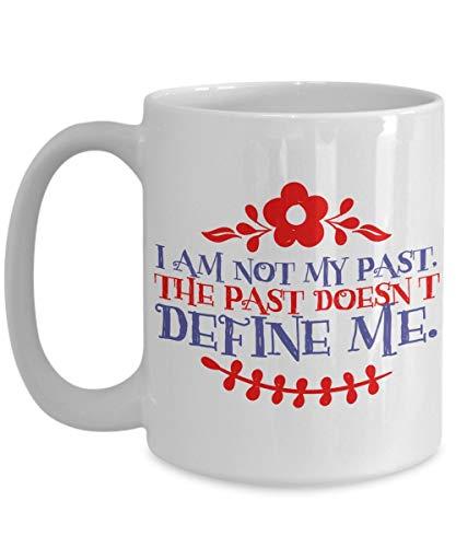 aza de meditación - No Soy mi Pasado - Taza Grande de café Mantra - Cumpleaños, Aniversario, calcetín, a Dieta, Esposo, Esposa, Amigo, Novio, Novia, Hombres, Mujeres