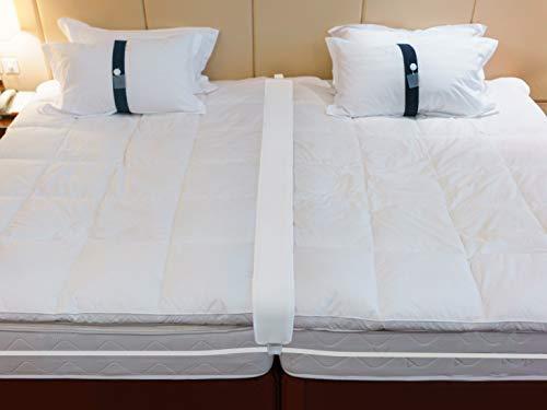 Doppel-zu-King-Size-Bettbrücke – Konverter-Kit für Doppelbetten – Ritzenfüller mit Gurt – schnelle Erstellung von King-Size-Bett – Matratzenverbinder für Gästezimmer