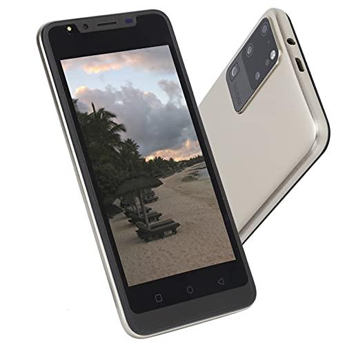Riconoscimento facciale Sblocco dell impronta digitale Smartphone da 512 MB + 4 GB Schermo da 5,0 pollici Telefono cellulare, Vetro ABS Sblocco dell impronta digitale Semplice(D oro)