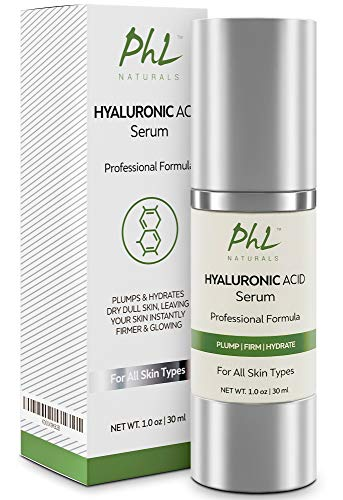 Hyaluronic Acid Serum for Face - with Vitamin C and E, Anti-Aging Line Correcting Serum - Boosts Hydration, Plumps Skin to Fill in Fine Lines and Wrinkles - 1 fl oz