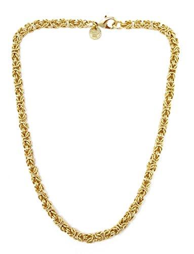 Königskette rund Gold Doublé 5 mm 90 cm Halskette Goldkette Herren-Kette Damen Geschenk Schmuck ab Fabrik Italien tendenze BZGYRO5-90v