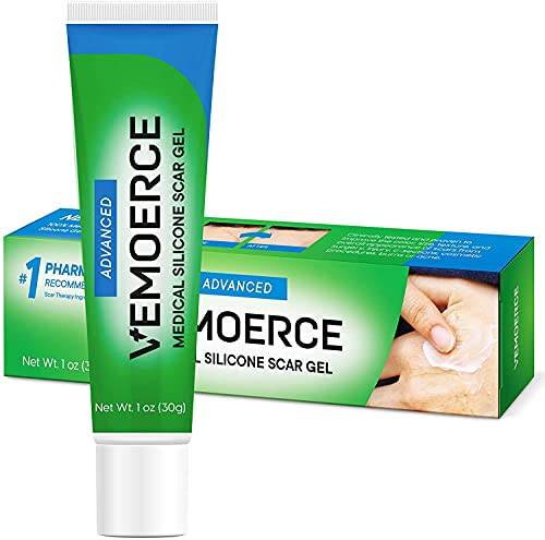 Vemoerce Scar Removal Gel with Silicone, Silicone Scar Gel for Surgical Scars, for Face, Scar Gel with Silicone for Keloids, C-Section, Cosmetic Procedures, Burns, Injuries 30 g