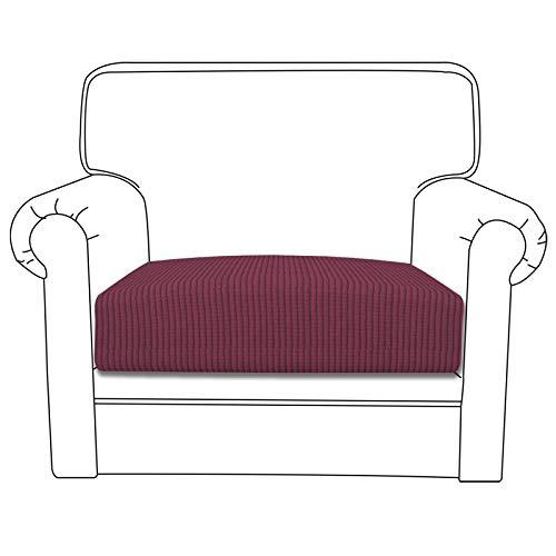 Easy-Going Stretch Cushion Cover Sofa Cushion Furniture Protector Sofa Seat Sofa slipcover Sofa Cover Soft Flexibility with Elastic Bottom(Chiar Cushion,ASH Rose)