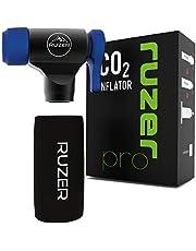 RUZER© CO2 C02 Inflator Quick & Easy Presta & Schrader Valve Compatibel Fietsband Pomp Voor Road & Mountainbikes & Geïsoleerde Mouw voor 12g, 16g, 20g & 25g Cartridges