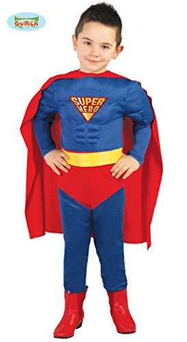 Guirca, Superman-Kostüm für Kinder, Farben: blau und rot 3-4años