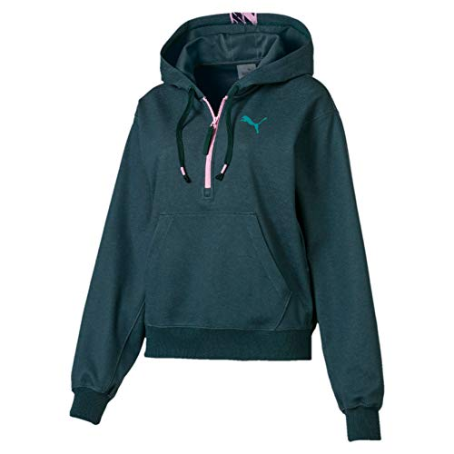 PUMA Damen Feel It Cover up Trainingsjacke, Ponderosa Pine Heather, L