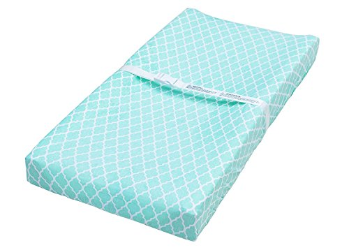 Jomolly Leakproof Changing Pad Covers, 2 Pack Mint & Elephant Fitted Cotton Table Sheets