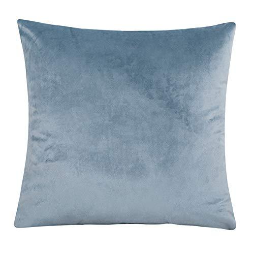 Funda de sofá de terciopelo con fundas de cojín separadas, funda elástica de felpa suave para sofá, protector de muebles antideslizante con parte inferior elástica (funda de almohada, gris azul)