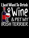 I Just Want to Drink Wine & Pet My Irish Terrier: 2020 Irish Terrier Planner for Organizing Your Life - Stephanie Paige