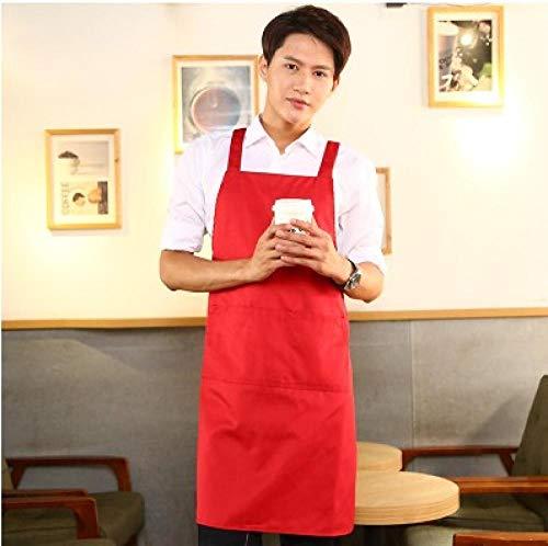 JJFU kookschort keuken koffie melk thee nagellak katoen schort vrouwen druk dame Age-Red Men_Fit voor 150-170Cm