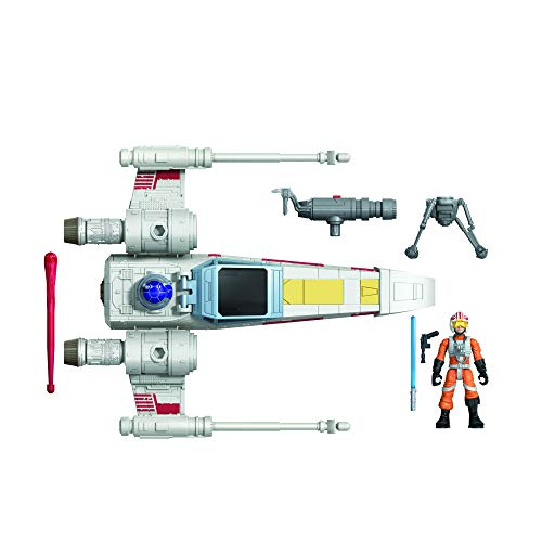 Star Wars Mission Fleet Stellar Class Luke Skywalker X-Wing Fighter Figura y...