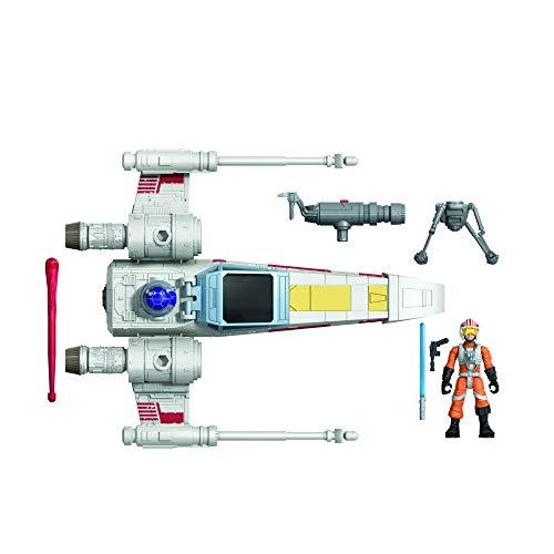 Star Wars Mission Fleet Stellar Class Luke Skywalker X-Wing Fighter Figura y vehículo de 2.5 Pulgadas, Juguetes para niños a Partir de 4 años
