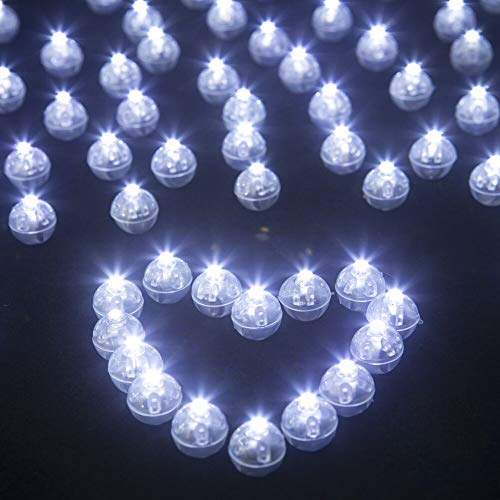 LED Balloon Lights, JJGoo 50pcs Round Led Mini Tiny Led Balls for Paper Lantern Balloon Birthday Party Wedding Decoration