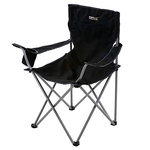 Regatta Isla Camping Chairs, Polyester, Black/Sealgr, Taille Unique