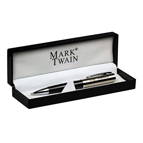 Kugelschreiber Mark Twain Chrissy in Geschenkbox mit Gravur Namen hier selbst gestalten