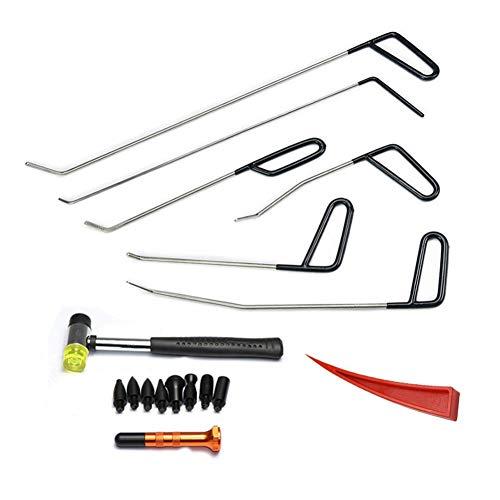 XNBCD PDR Rod Hook Tool ohne Lack Dellen Reparatur Auto Entfernung Hagel Hammer Dellen roten Keil Wasserhahn Anzug