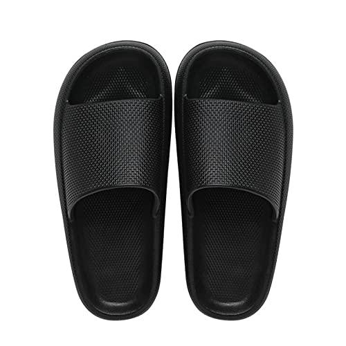 BIBOKAOKE Badeschuhe Plattform Unisex Herren/Damen Badeschlappen Badelatschen Anti-Rutsch Outdoor Ultraweiche Badeschlappen Leichte Dusch Hausschuhe Bequemer Schuhe Slippers