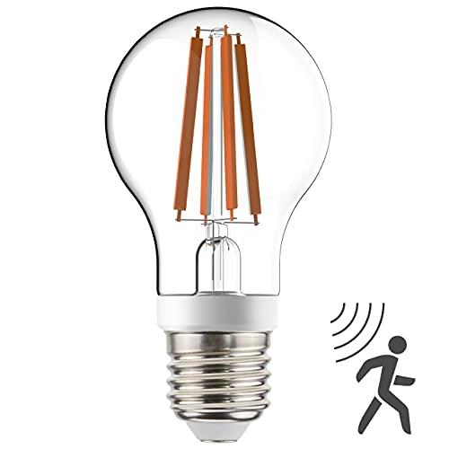 Bombilla de filamento LED, A60, con sensor crepuscular y de movimiento HF,...
