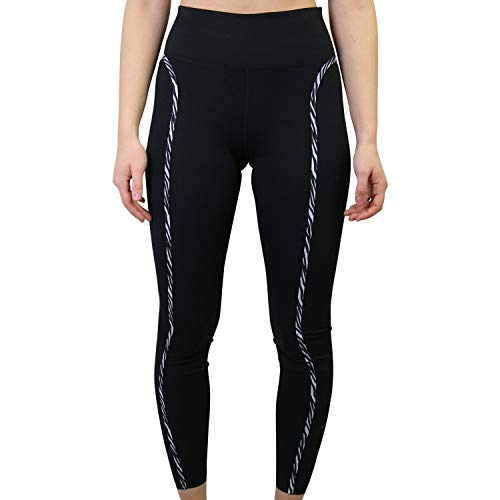 NIKE W One Luxe ICNCLSH TGT Leggings, Black/Purple Chalk/(Clear), X-Small para Mujer