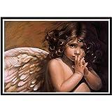 5d diy pintura de diamante punto de cruz ángel religioso bordado de diamantes chica paisaje etiqueta de la pared pintura de mosaico de diamantes A3 60x80cm