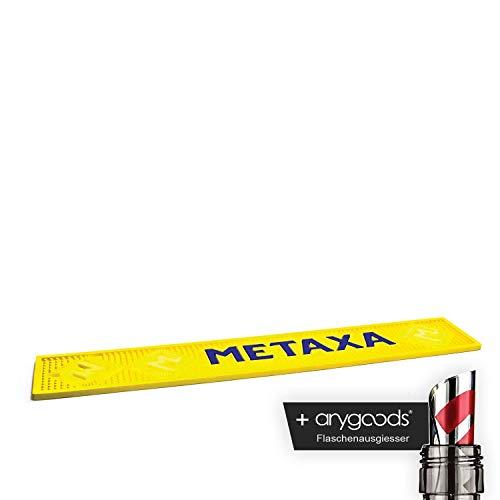 Metaxa Barmatte Glas Gläser Gastro Bar Deko NEU + anygoods Flaschenausgiesser