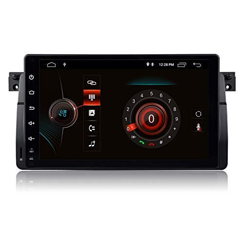 9 Zoll Android 10 Quad Core Autoradio Doppel Din Radio mit Navi für BMW E46 M3 Rover 75 MG ZT Sedan Unterstützung AHD Rückfahrkamera GPS Navi Radio Audio Video Bluetooth AM PM WiFi SWC DSP DAB+,2+80G
