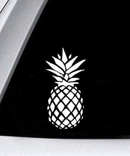 Pineapple Cool Tropical - Vinyl Decal - Car Phone Helmet Bumper Sticker Decal