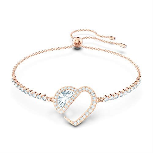 Swarovski Women's Hear Heart Bracelet, Brilliant Crystals with Rose-gold tone Plating, from the Amazon Exclusive Swarovski Hear Collection
