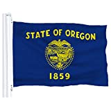 DFLIVE Oregon State Flag Banner 3Ft x 5Ft Polyester Printed with Grommets