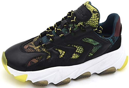ASH - Zapatillas extremas, Color Negro y Verde Lima, Color Negro, Talla 36 EU